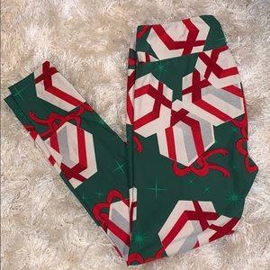 LuLaRoe Christmas Holiday Leggings Tall and Curvy